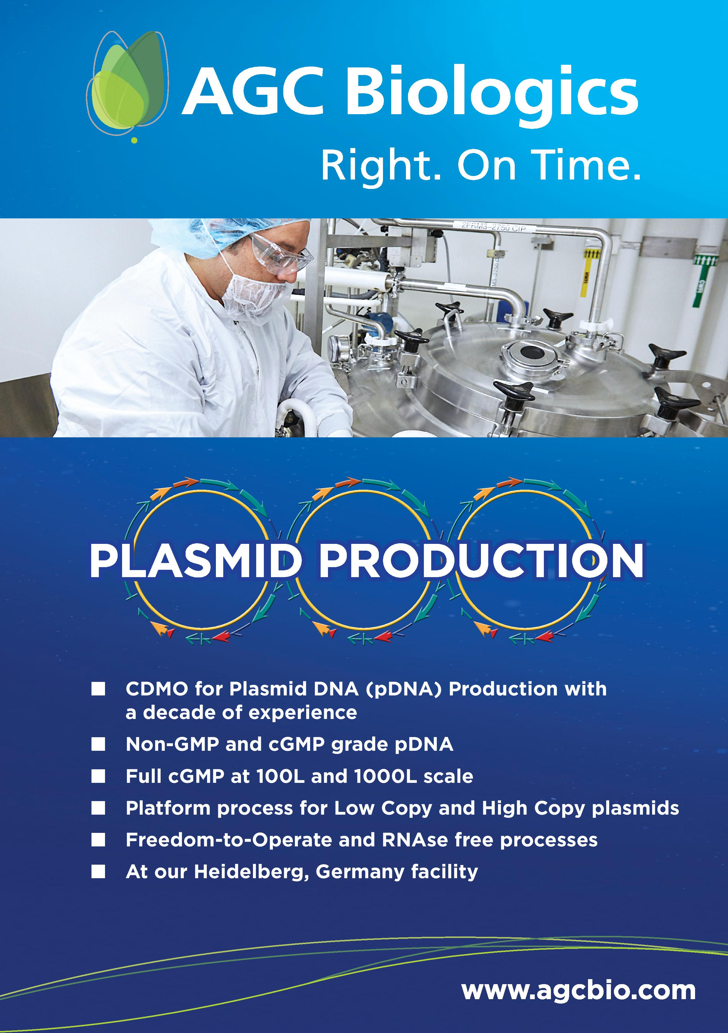 AGC Biologics Plasmid Production